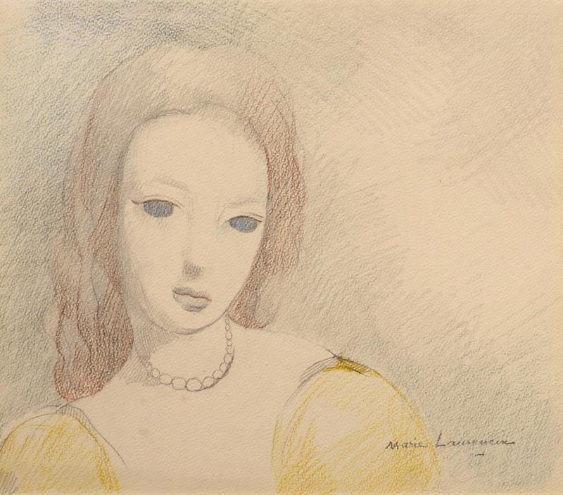 Marie Laurencin Jeune Femme en Robe Jaune