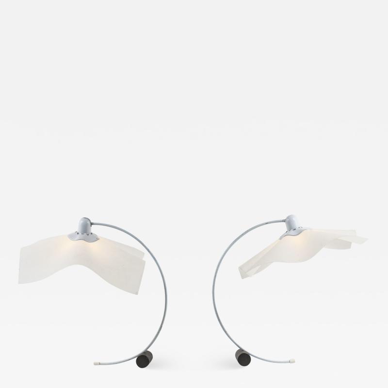 Mario Bellini AREA Pair of table lamps by Mario Bellini for Artemide