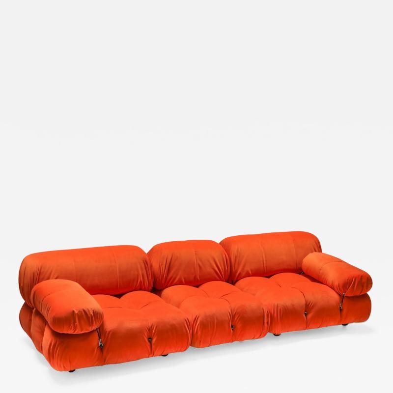 Mario Bellini Camaleonda sectional sofa in bright orange 1970s