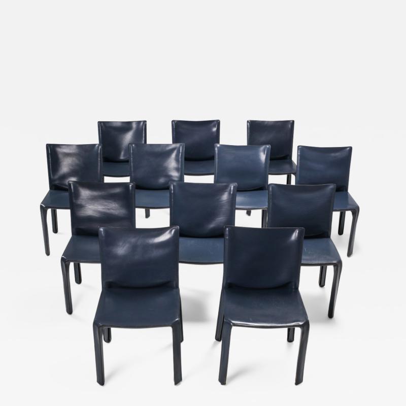 Mario Bellini Cassina Blue CAB Chairs 1970s