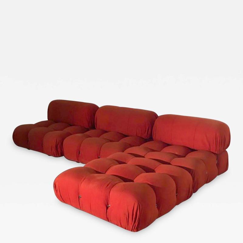 Mario Bellini Mario Bellini B B Italia Camaleonda Sofa Set in Orange Upholstery 1970