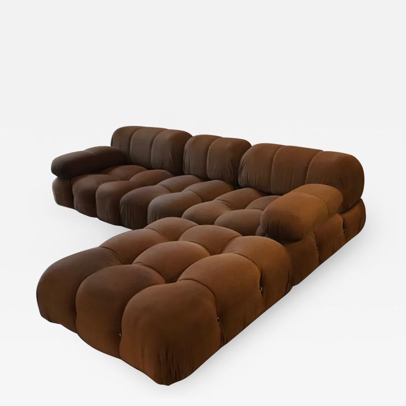 Mario Bellini Mario Bellini B B Italia Camaleonda Sofa Set in Original Brown Upholstery 1970