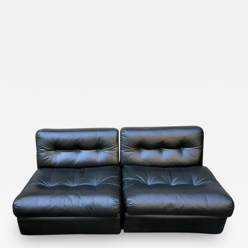 Mario Bellini Pair Vintage Amanta Modular Slipper Chairs Mario Bellini