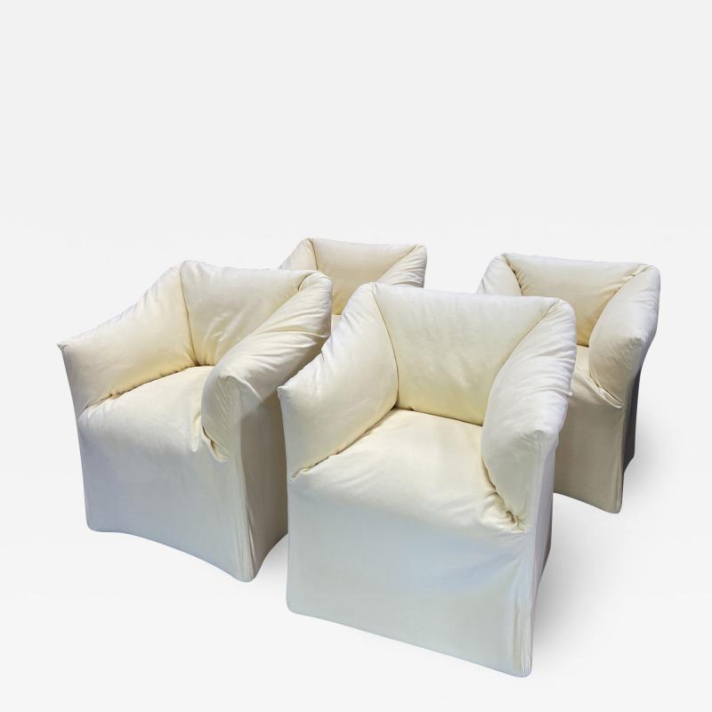 Mario Bellini Pair of 4 Tentazione Lounge Chairs for Cassina by Mario Bellini
