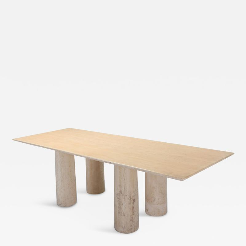 Mario Bellini Travertine Dining Table by Mario Bellini Il Colonnato 1970s
