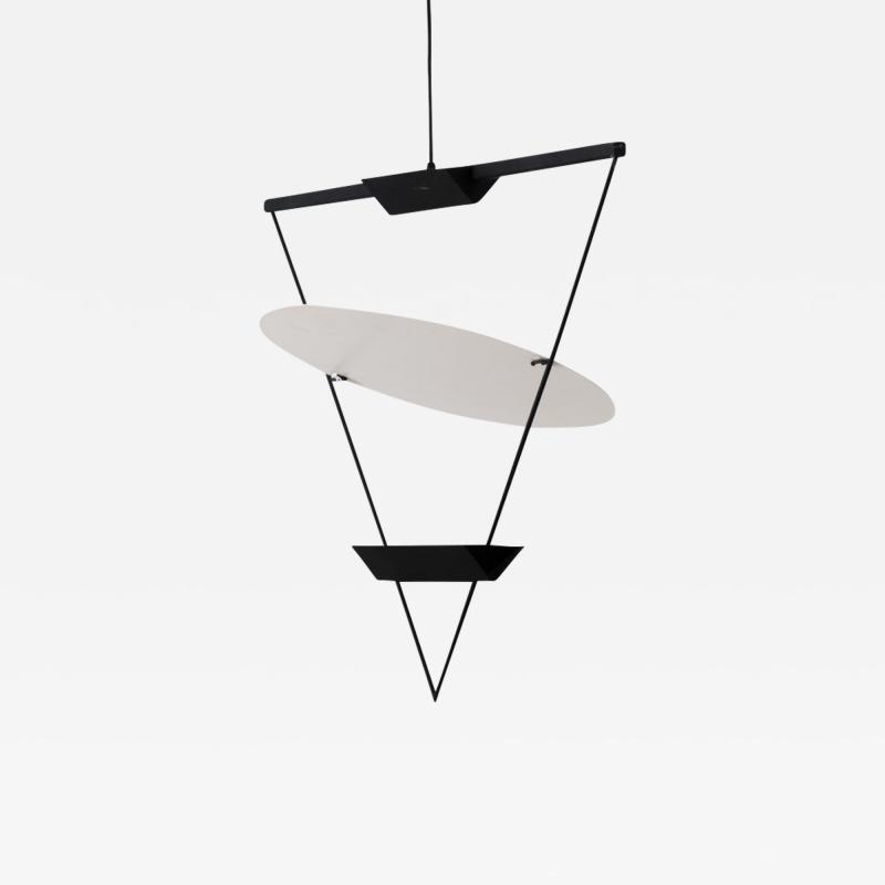 Mario Botta Mario Botta inverted triangle lamp Artemide 1985