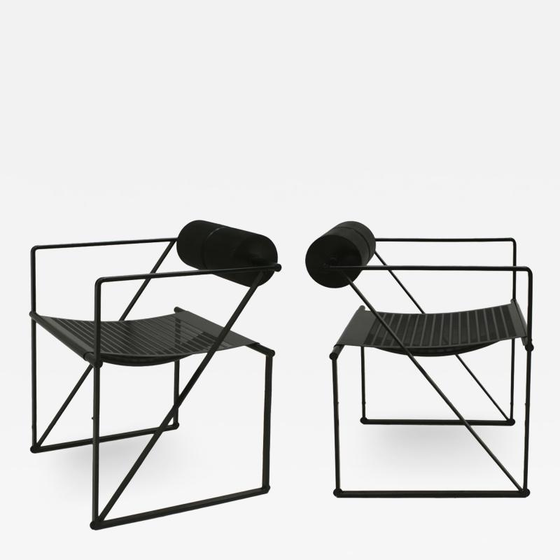 Mario Botta Mid Century Modern Pair of Chairs Mod Seconda Designed by Mario Botta 1982