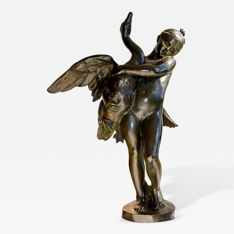 Marius Jean Antonin Mercie Girl and Swan