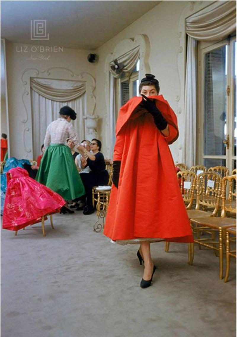 Mark Shaw Balenciaga Orange Coat Front