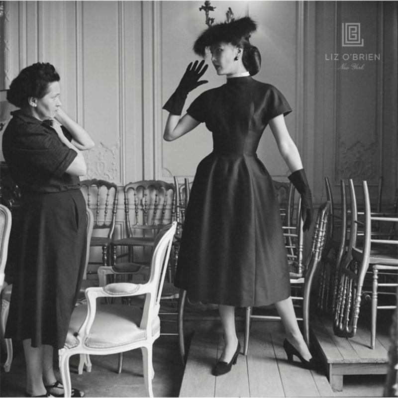 Mark Shaw Dior Model Alla in Croque Mitaine with Seamstress