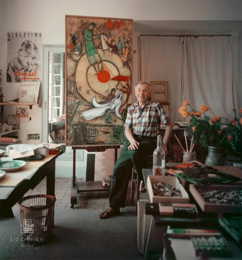 Mark Shaw Marc Chagall in His Studio in Vence France