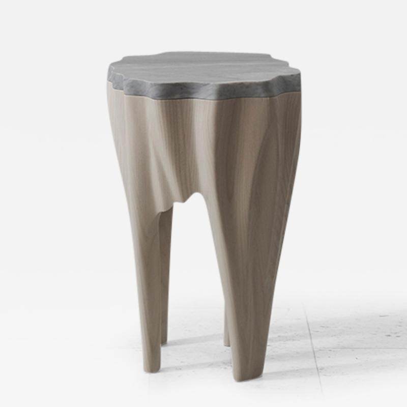 Markus Haase Ash and Marble Side Table USA 2016