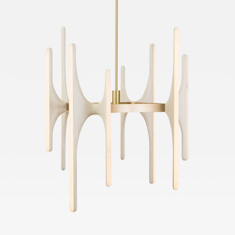 Markus Haase Markus Haase Bleached Ash and Onyx Chandelier USA 2016