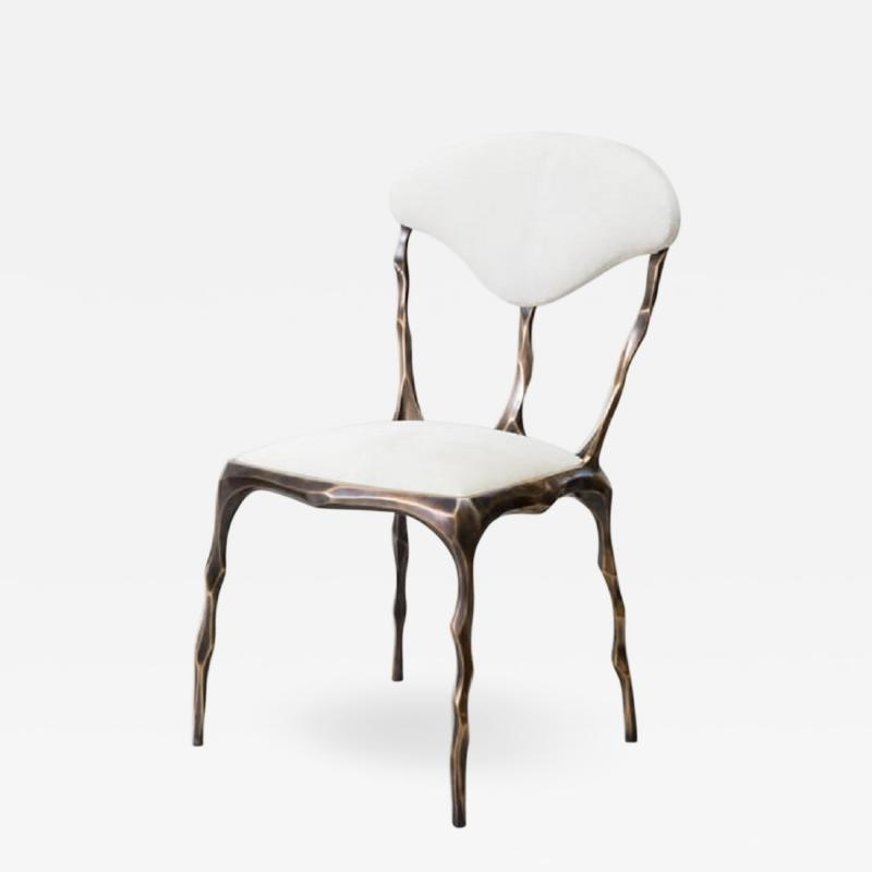 Markus Haase Markus Haase Faceted Bronze Patina Dining Chair USA 2018
