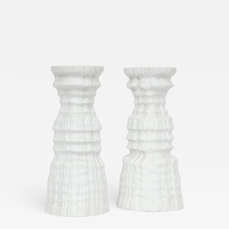 Martin Freyer Glacier Series Candlesticks by Martin Freyer for Rosenthal