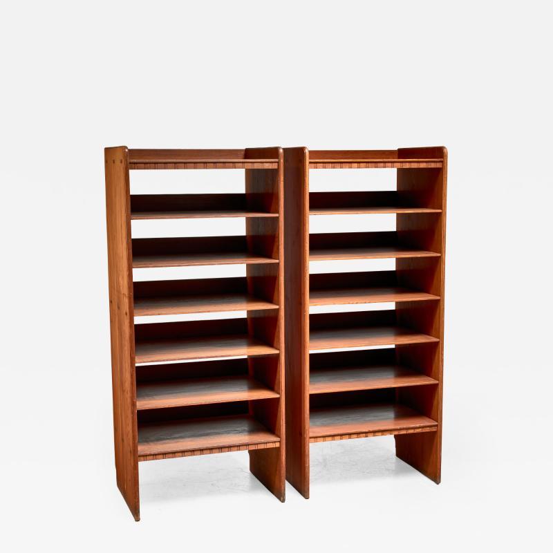 Martin Nyrop Martin Nyrop pair of pine bookcases Denmark ca 1900
