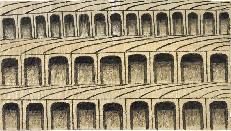 Martin Ramirez Untitled Arches