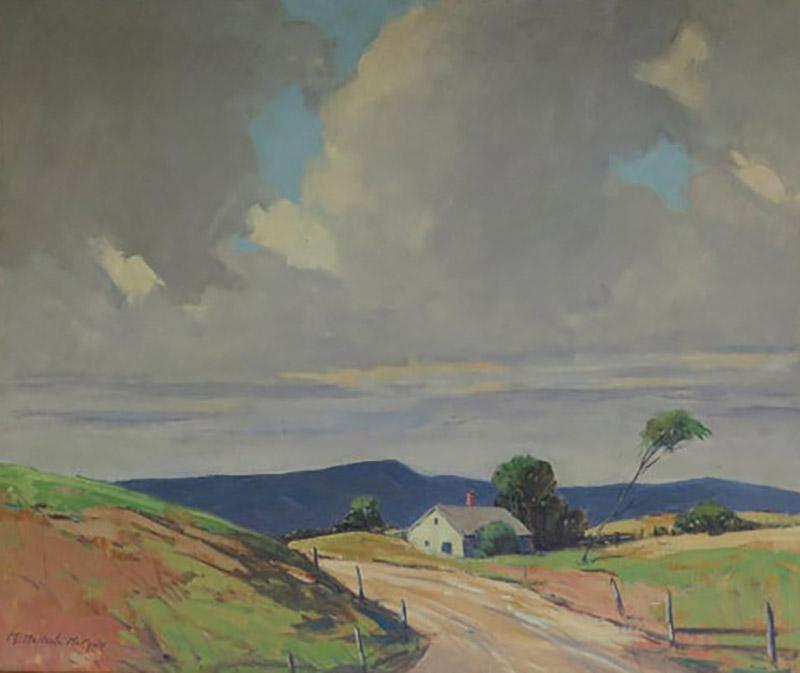Mary DeNeale Morgan Wind Oil on Canvas by CA Artist Mary DeNeale Morgan American 1868 1948
