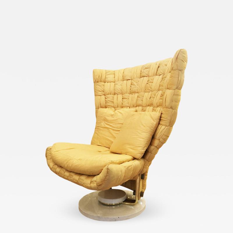 Marzio Cecchi Swivel Lounge Chair by Marzio Cecchi