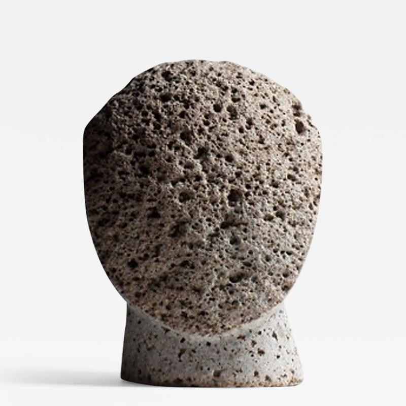Masanori Sugisaki PHILOSOPHER HEAD 1 Stone sculpture