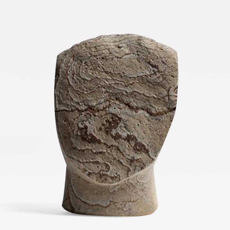 Masanori Sugisaki PHILOSOPHER HEAD 2 Stone sculpture