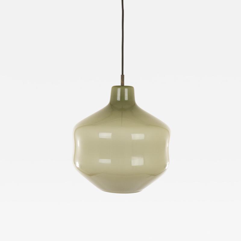 Massimo Vignelli Grey hand blown Murano glass pendant by Massimo Vignelli for Venini 1950s