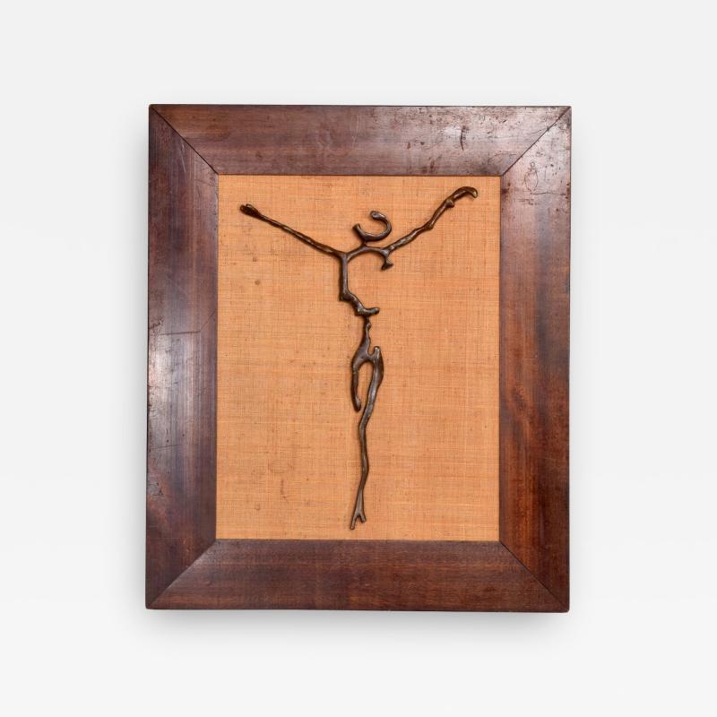 Mathias Goeritz Surrealism Sculpture Savior of Auschwitz Bronze Cross by Mathias Goeritz Mexico