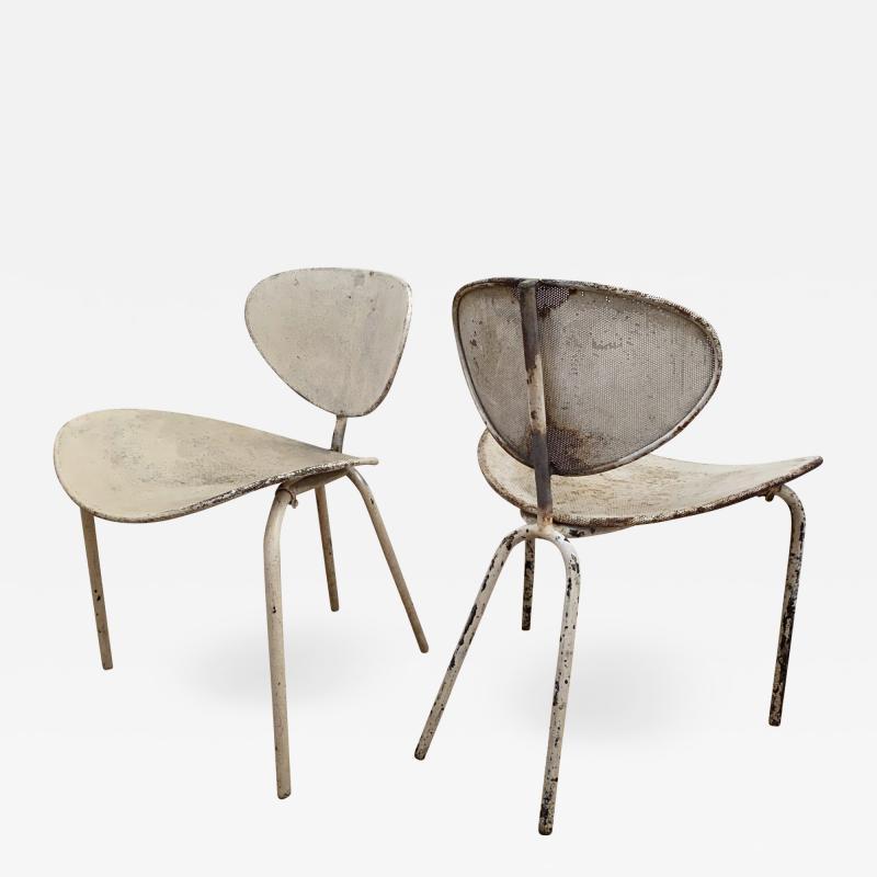 Mathieu Mat got Mathieu Mategot genuine pair of Nagasaki chair in vintage condition
