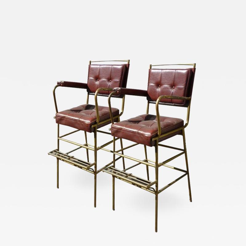 Mathieu Mat got Mathieu Mategot pair of comfy bar stools