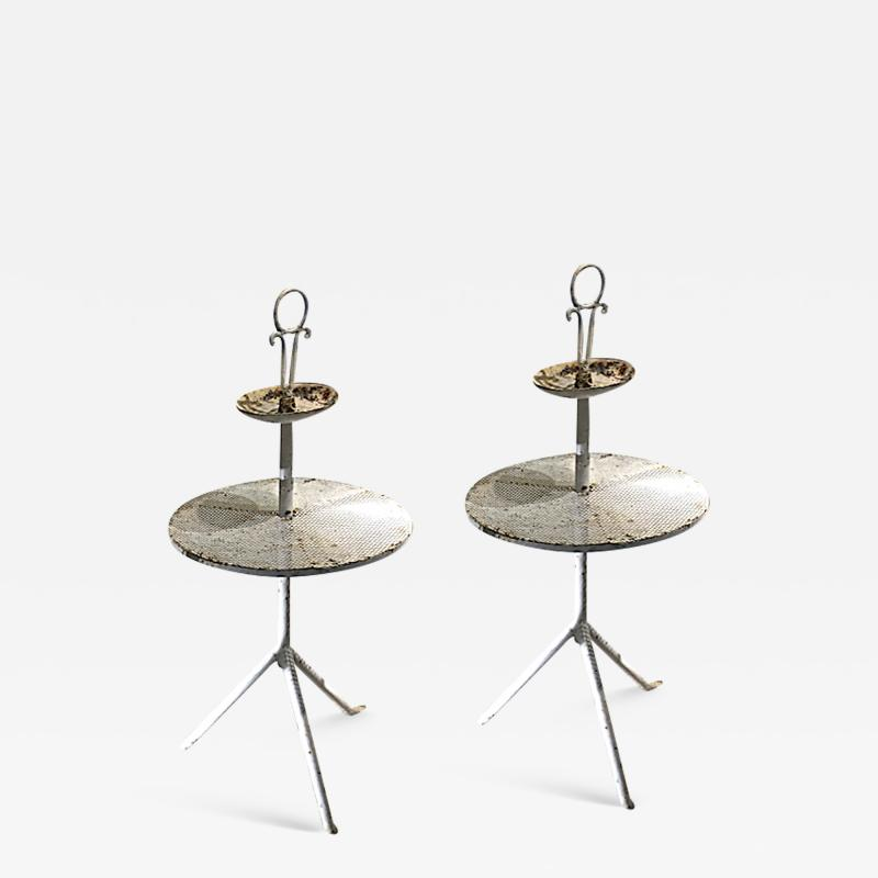 Mathieu Mat got Mathieu mategot style pair of charming serving table in vintage condition