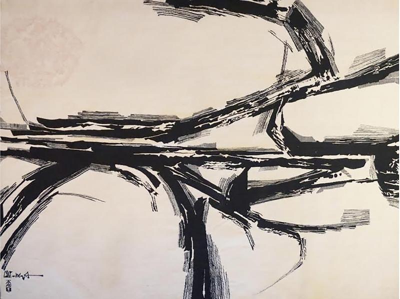 Mathieu Mat got Modern tapestry designed by Mathieu Mat got Silence Blanc