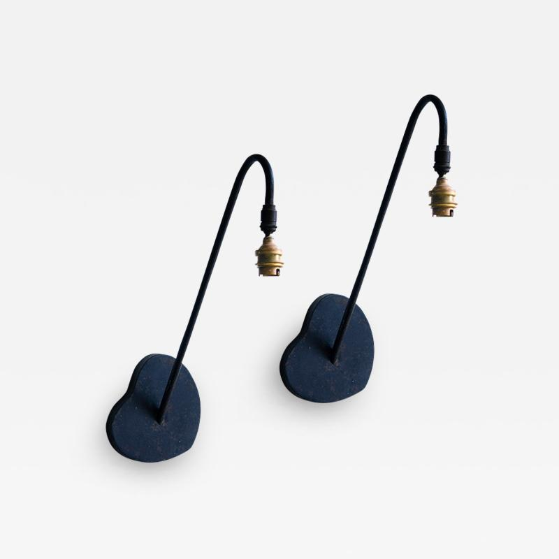 Mathieu Mat got Pair of Modernist French Sconces in the Style of Mathieu Mategot