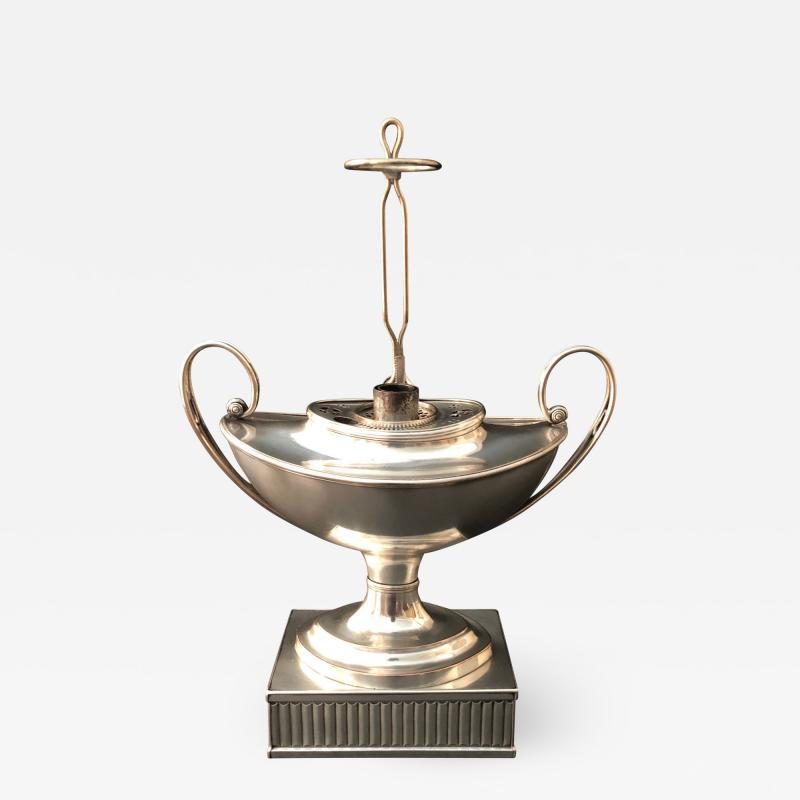 Matthew Boulton A Regency Silver Plated Argand
