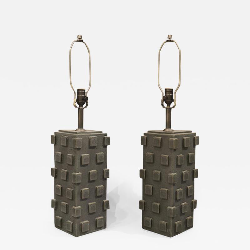 Matthew Ward Pair of Ceramic Table Lamps by Matthew Ward 2018