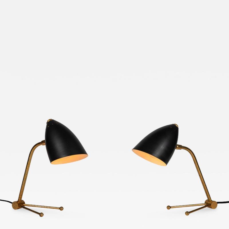 Mauri Almari Pair of 1950s Finnish Table Lamps Attributed to Mauri Almari