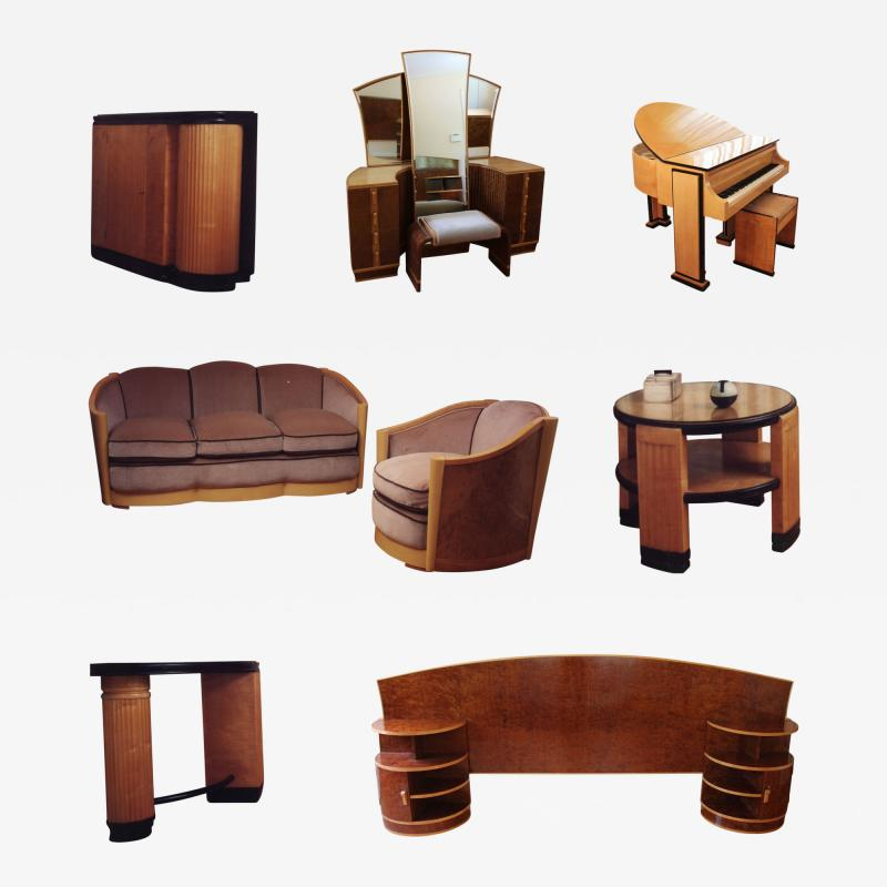 Maurice Adams Extraordinary Collection of Signed English Designer Furniture and Piano