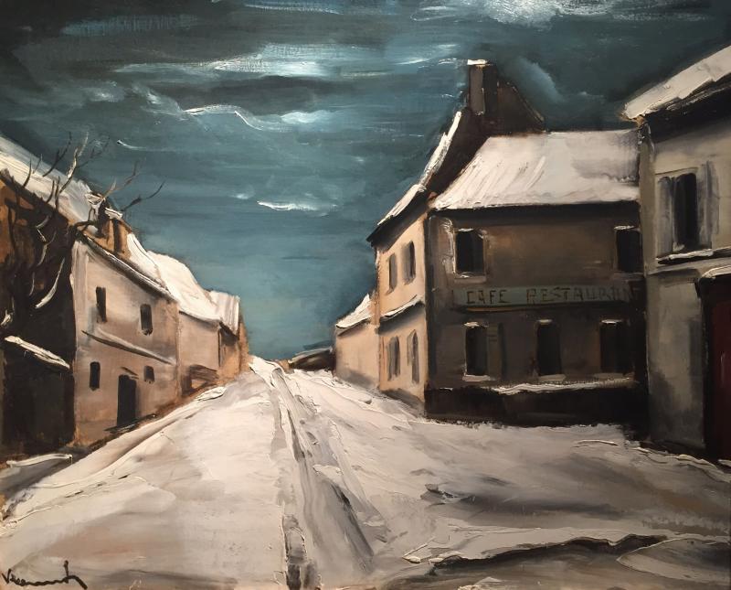 Maurice De Vlaminck Village sous la neige 1925