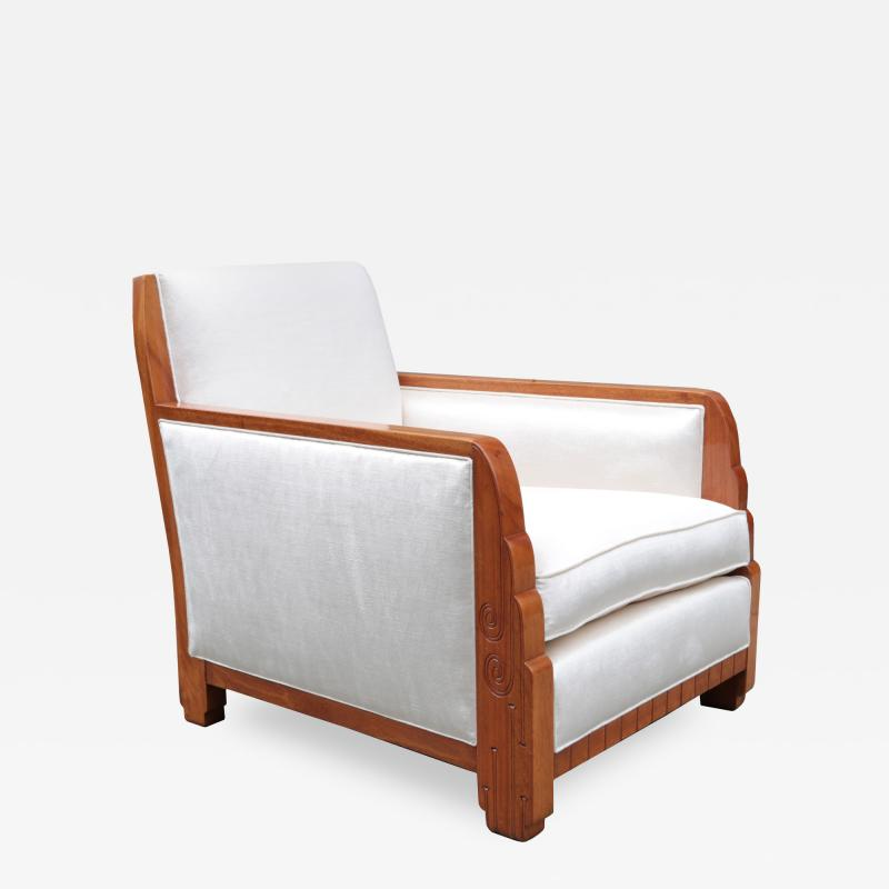 Maurice Dufr ne Club Chair By Maurice Dufrene