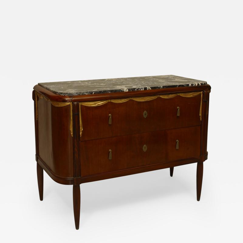 Maurice Dufr ne French Art Deco Parcel Gilt Mahogany Rosewood Commode