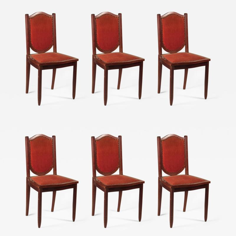 Maurice Dufr ne Maurice Dufrene Set of 6 Dining Chairs in Purple Heart