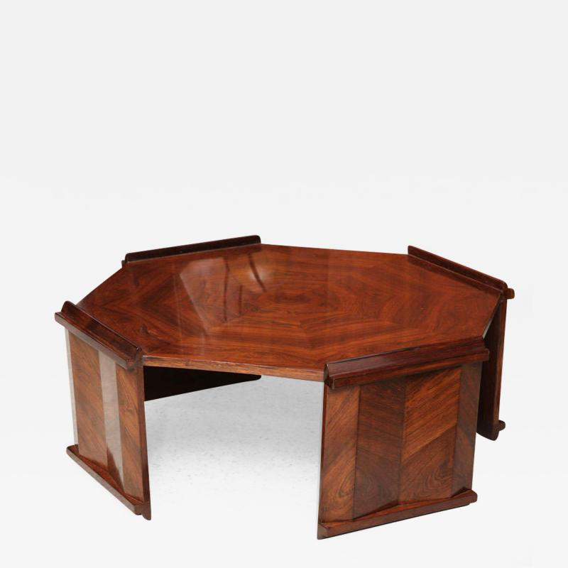 Maurice Jallot Fine Rosewood Late Art Deco Low Table France Maurice Jallot