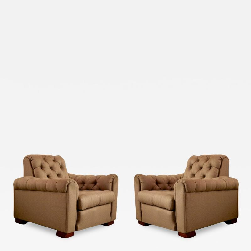 Maurice Jallot Leon Maurice Jallot Pair of Club Chairs
