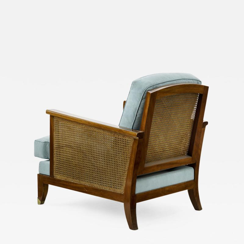 Maurice Jallot Maurice Jallot refined caned arm chair