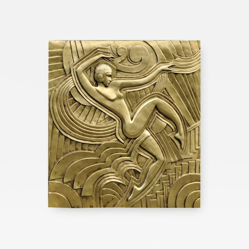 Maurice Picaud Art Deco Folies Bergeres Wall Plaque