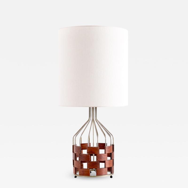Maurizio Tempestini Large Maurizio Tempestini Rosewood Table Lamp for Casey Fantin Florence 1961