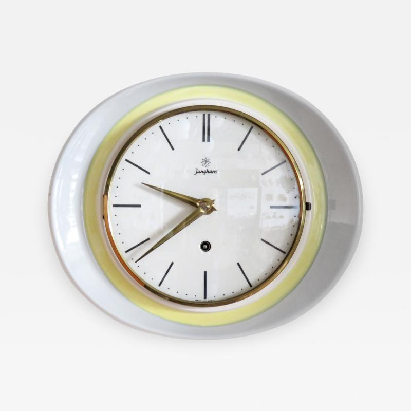 Max Bill Germany Wall Clock by Junghans 1950