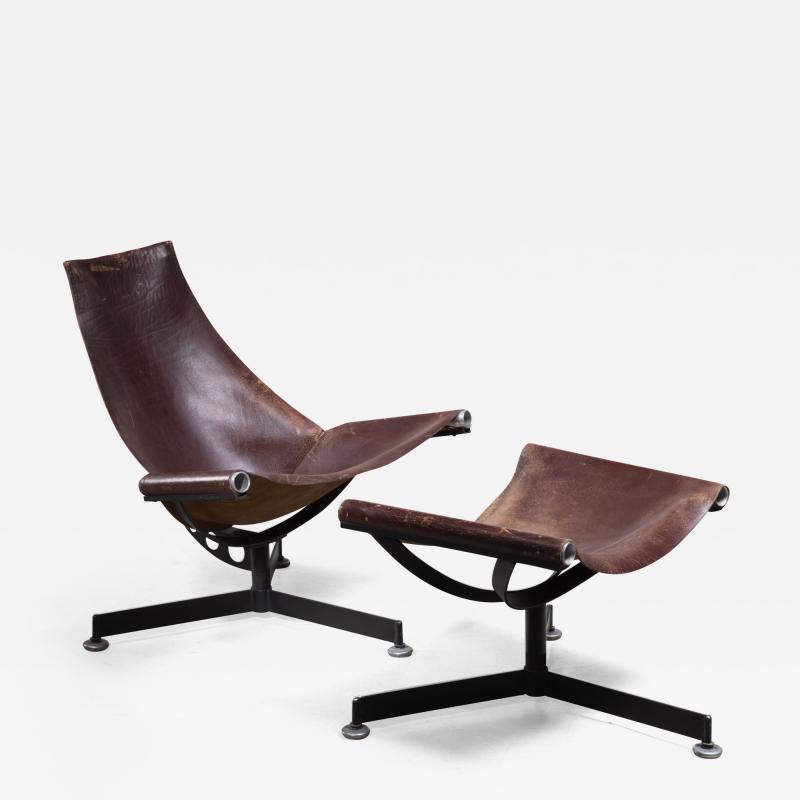 Max Gottschalk Max Gottschalk Lounge Chair with Ottoman USA 1960s