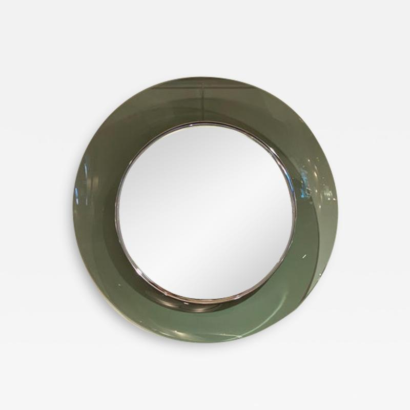 Max Ingrand 1669 Model Circular Glass Mirror by Max Ingrand for Fontana Arte Italy 1960