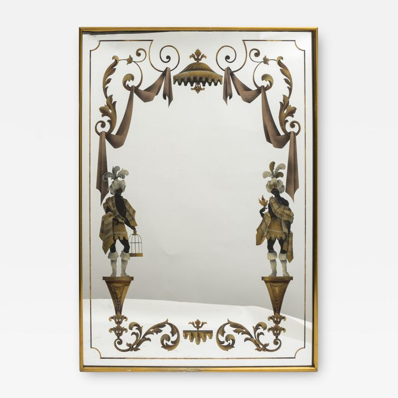 Max Ingrand 1940s Neo Classical Mirror in the Style of Max ingrand