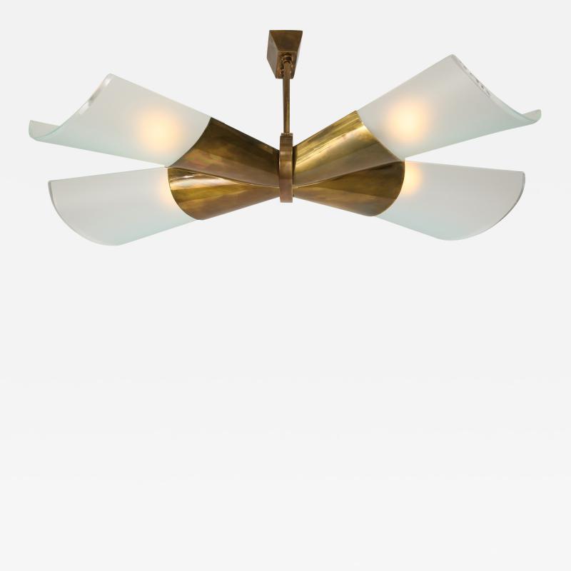 Max Ingrand Chandelier Model 2042 9 by Gino Sarfatti for Arteluce